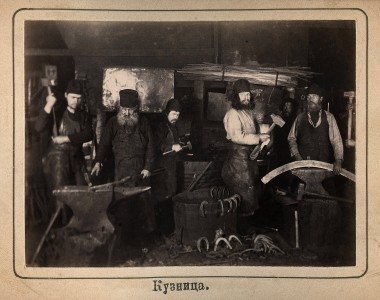 2 Кузница Валаамского монастыря, 1890-е годы. Из коллекции Сергея Максимишина