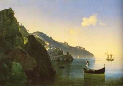 Айвазовский. Побережье в Амальфи. 1841. Х.,м. 71 х 105. ГРМ