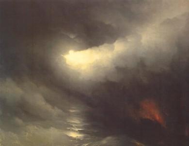 Айвазовский. Сотворение мира. 1864. Х.,м. 195 х 236. ГРМ