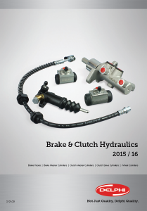 Delphi Delphi Brake & Clutch Hydraulics Catalogue 2015