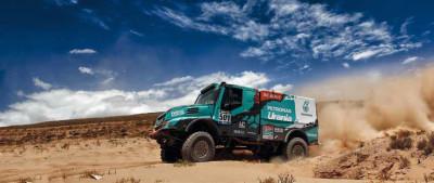 501 DE ROOY GERARD TORRALLARDONA MOISES RODEWALD DAREK (nld) IVECO action during the Dakar 2016 Argentina,  Bolivia, Etape 6 - Stage 6, Uyuni - Uyuni,  from  January 8, 2016 - Photo Frederic Le Floc'h / DPPI