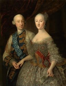 Г.Х.Гроот Портрет великого князя Петра Фёдоровича и великой княгини Екатерины Алексеевны. 1745 ГРМ