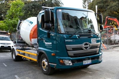 Hanson Concrete purchased 24 Hino 500 Series Standard Cabs primarily based on the safety features of the truck. Photo by James Thomas/The Photo Pitch