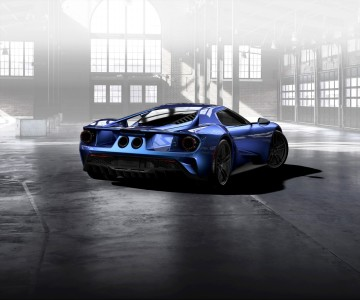 Liquid-Blue-Ford-GT-rear-three-quarter