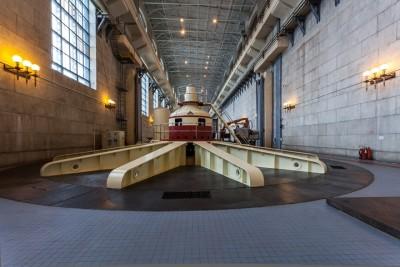 Машинный зал Жигулевской  ГЭС