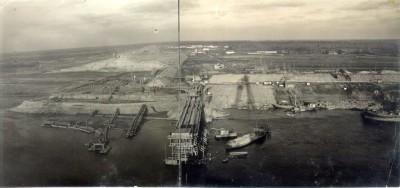 Панорама на строительство Рыбинской ГЭС. 1939 г.