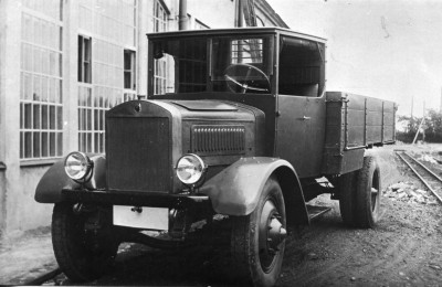 Первый тяжелый грузовик в СССР Я-4, 1928 г.