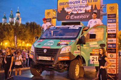 Серебряный призер ГАЗель NEXT на финишном подиуме