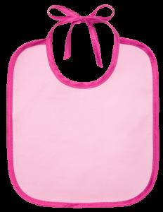Слюнявчик Курносики розовый