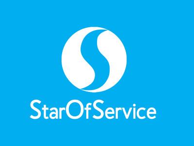 StarOfService Logotype (blue background)