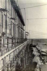 Трансформаторы на Рыбинской ГЭС. 1946 г.