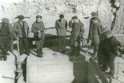 правительство СОАССР на строительстве ГЭС